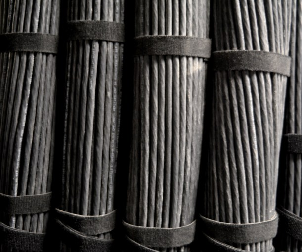 Wire bundles. Photo by Mike Hartley