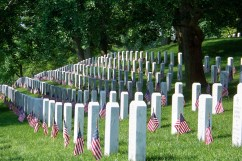 Flags for the fallen on Memorial Day weekend at Arlington. Photo by Mike Hartley