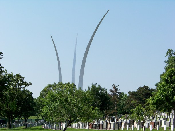 US Air Force Memorial stretching over Arlington. Photo by Mike Hartley