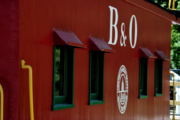 Caboose in Mt Airy. Photo by Mike Hartley
