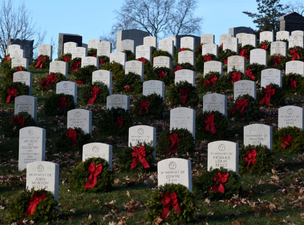 Wreaths at Arlington. Photo by Mike Hartley