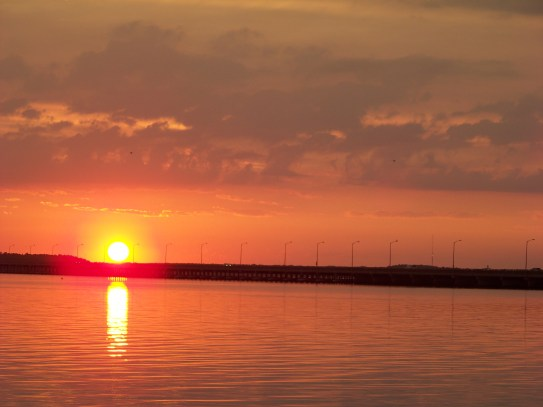 Sunset over bridge from Fagers Island Photo by Mike Hartley