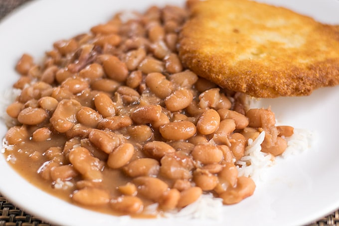 The most delicious pot of pinto beans you will ever have! They are a great option for a cheap and tasty dinner