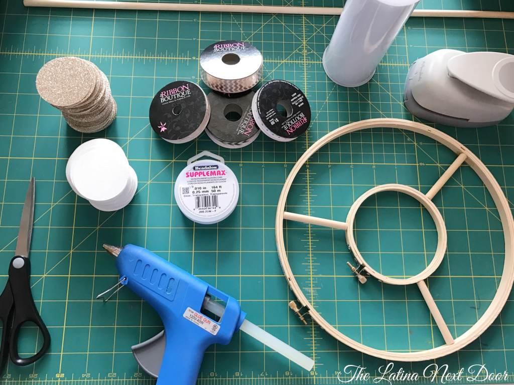 DIY Circle Chandelier