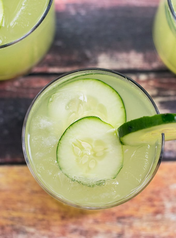cucumber lime agua fresca is the most refreshing beverage you will ever try! It is perfect for the summer time and for cinco de mayo of course!