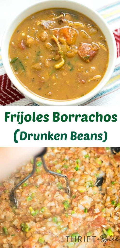 Frijoles Borrachos or drunken beans are a delicious simple mexican meal made with beer!