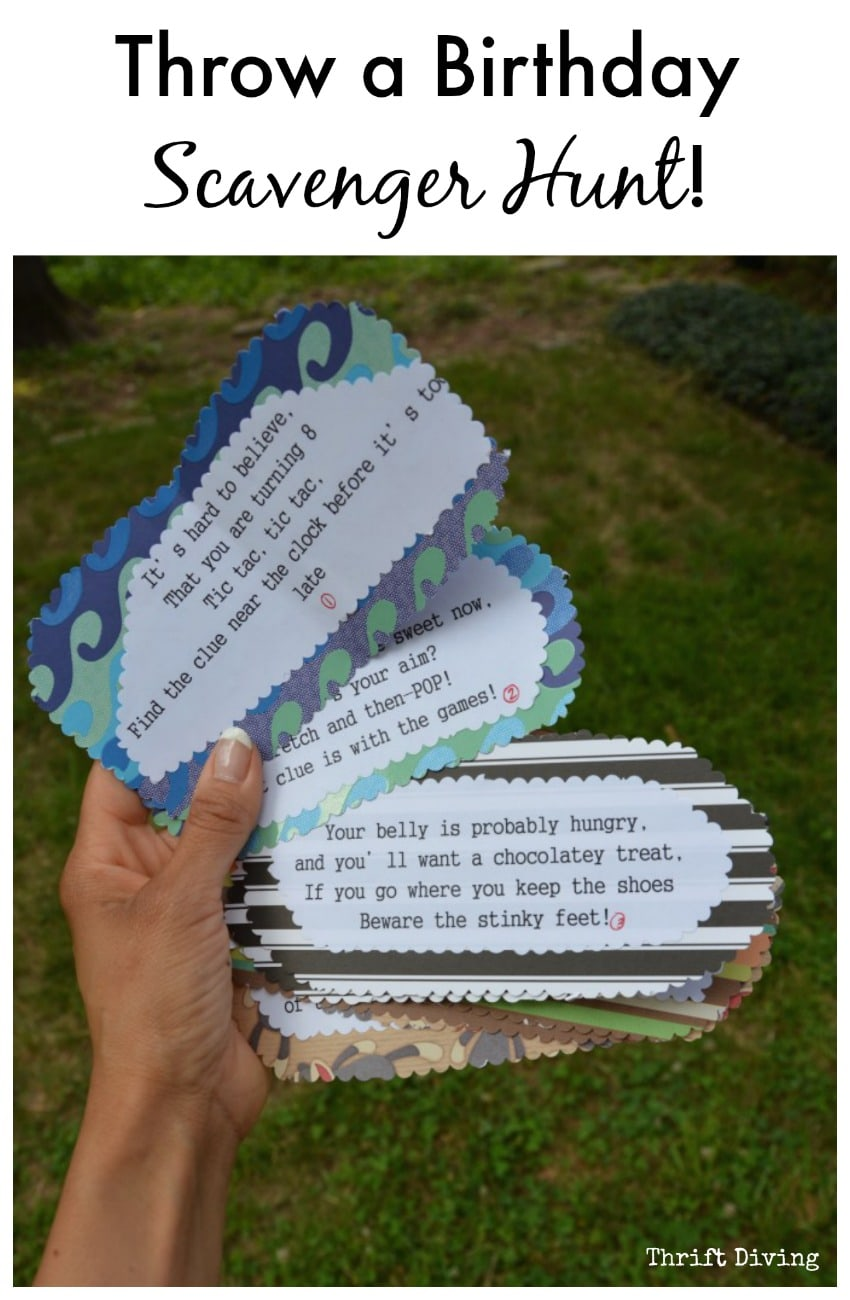 How To Throw A Birthday Card Scavenger Hunt