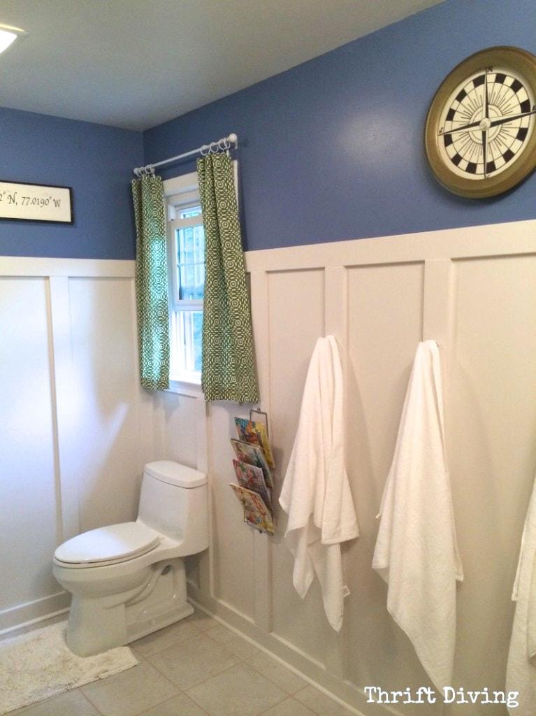 before & after: kids' bathroom makeover reveal!! - thrift diving blog