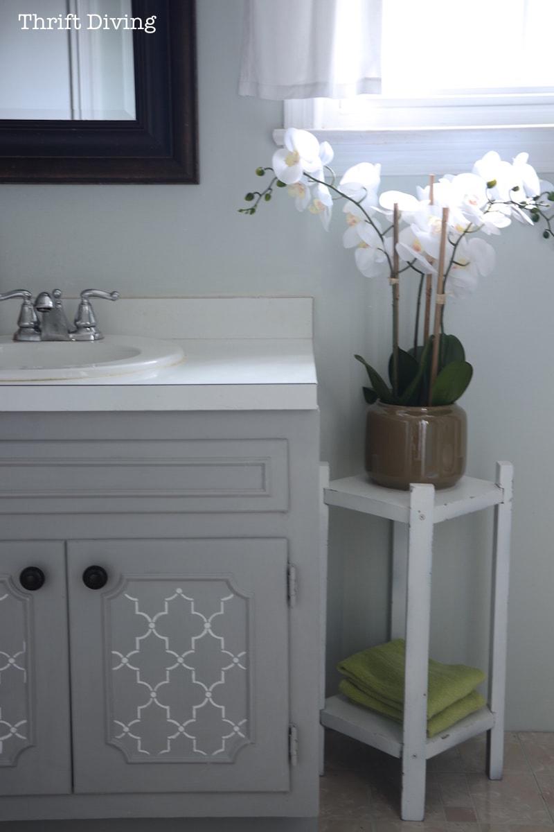 my pretty painted bathroom vanity