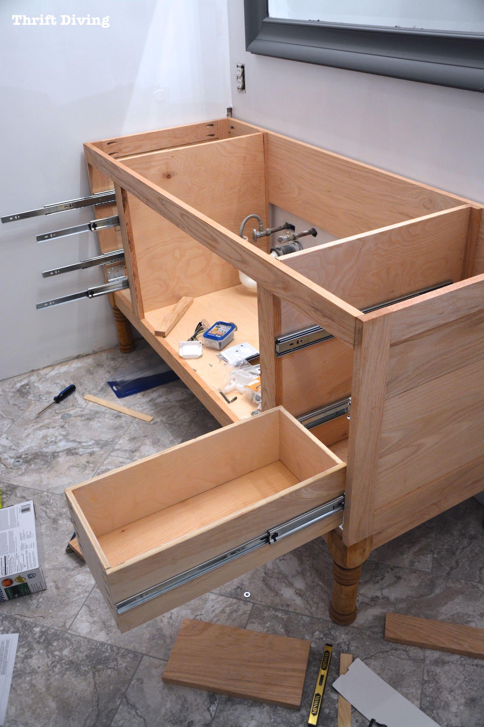 Build A Diy Bathroom Vanity Part 4 Making The Drawers