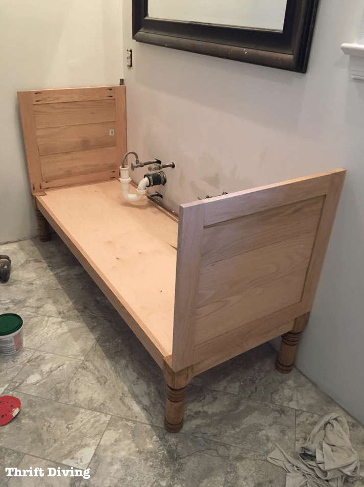 """how to build a 60"""" diy bathroom vanity from scratch"""