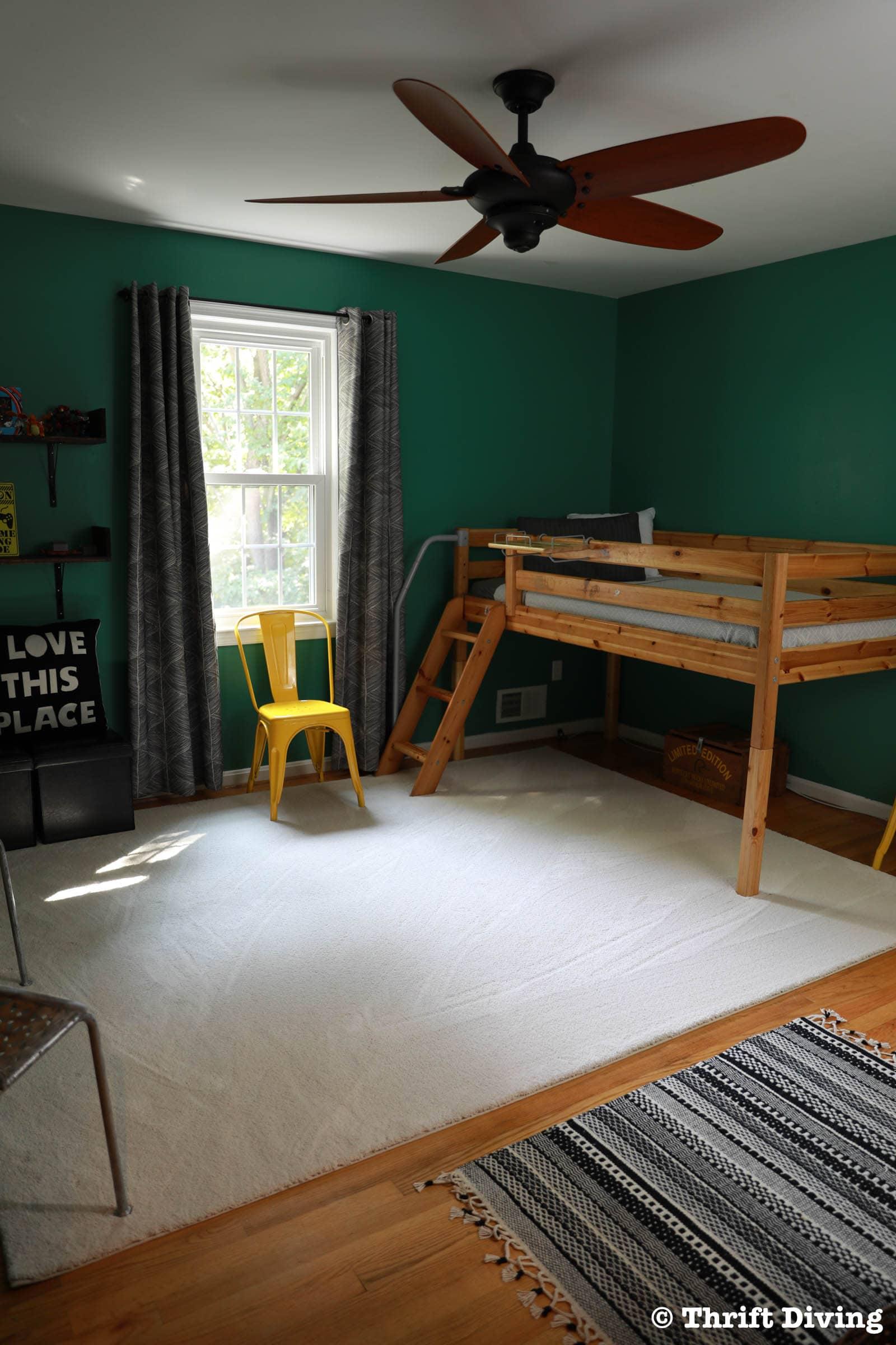 my boys green bedroom makeover