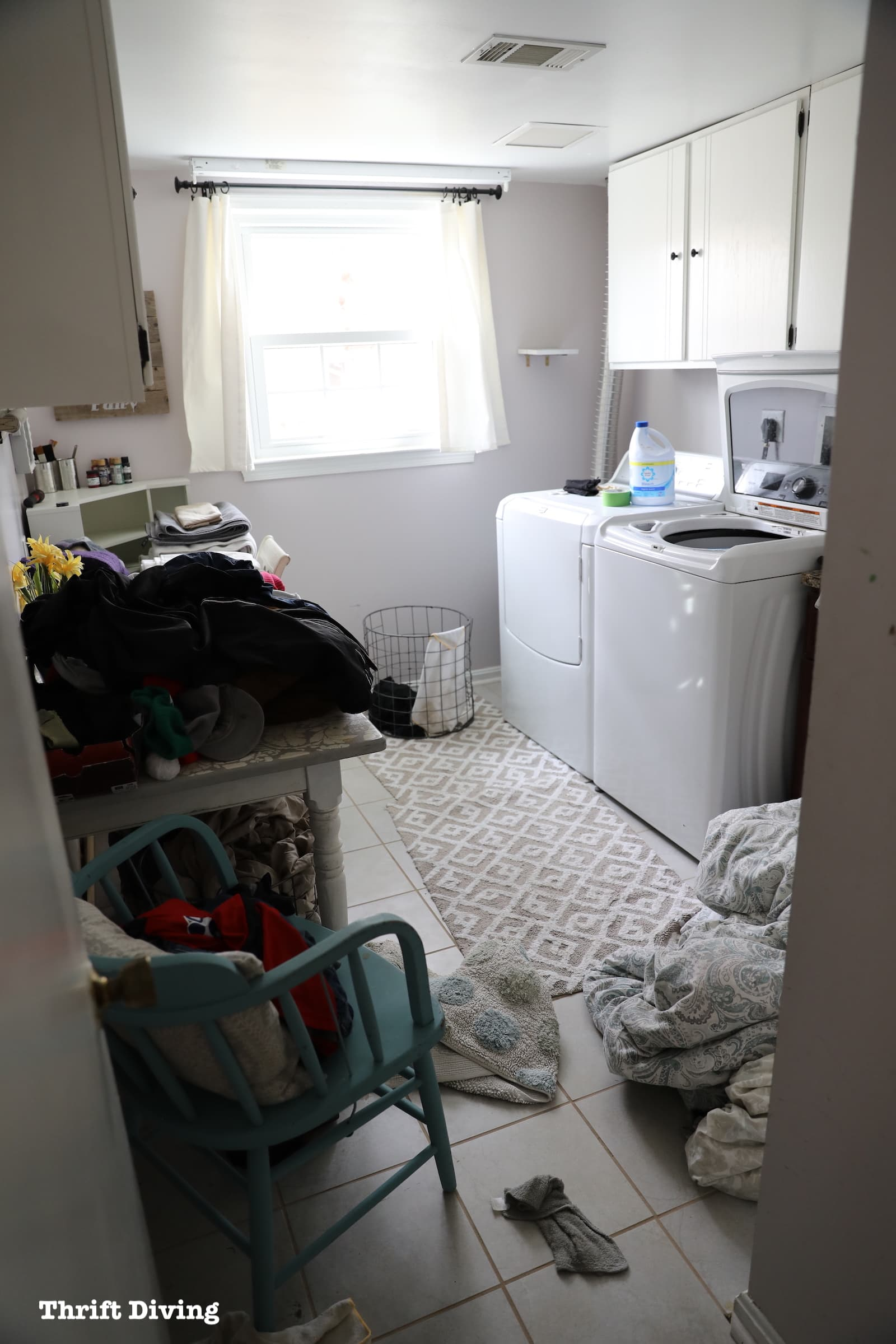 Laundry Room Mini Makeover Challenge