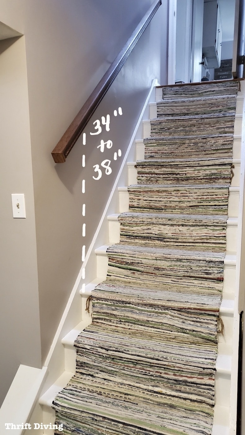 Installing A Staircase Handrail At My Basement Stairs   Stairs And Railings Near Me   Stair Case   Stair Parts   Wood   Concrete Steps   Iron Balusters