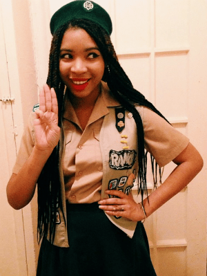 thrifted girl scout costume