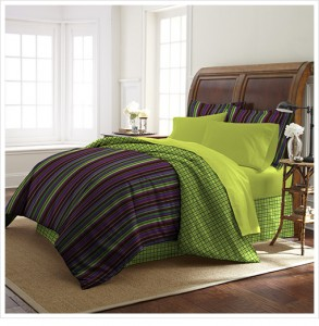 Colonial Home 8-Piece Bed-in-a-Bag with Comforter, Pillow Shams, Bed Skirt, Pillow Cases, and Fitted Flat Sheet