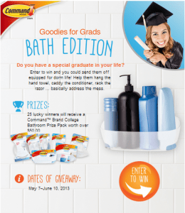 3M Command Goodies for Grad from Command Brand Sweepstakes