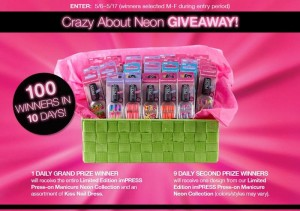 Braodway Nails Crazy About Neon Giveaway