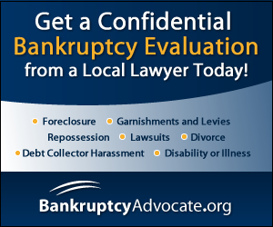 FREE Confidential Bankruptcy Evaluation - No Minimum Debt Required