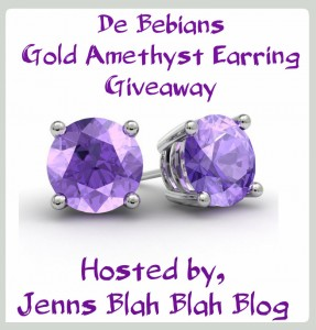 Gold Amethyst Earring Giveaway