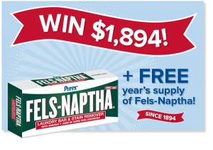 Purex The Pre-treat stains and WIN with Fels-Naptha Sweepstakes