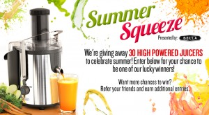 BELLA Summer Squeeze Sweepstakes
