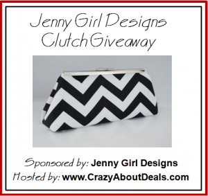 Black and White Chevron Clutch Giveaway