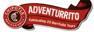 Chipotle 20th Anniversary Scavenger Hunt Sweepstakes