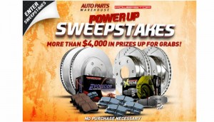 AutoPartsWarehouse.com Power Stop Power Up Sweepstakes