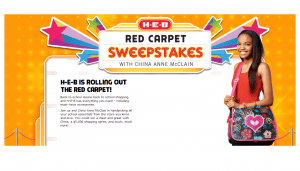 H-E-B Red Carpet Sweepstakes & Instant Win Game