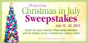 Swiss Colony Christmas in July Sweepstakes