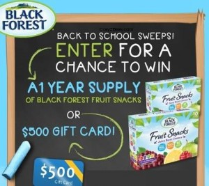 Black Forest Back To School Sweepstakes
