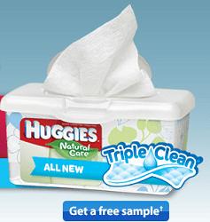 FREE Sample of Huggies Triple Clean Wipes