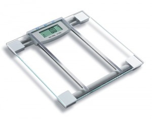 HUTT SlimFit Premium 6 in 1 BMI Scale w Large LCD, Step-On Technology, 4-Point Pressure & 330 lbs. Capacity ONLY $14.99