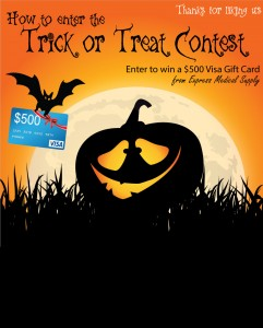 Express Medical Supply Trick or Treat to Win $500 Sweepstakes