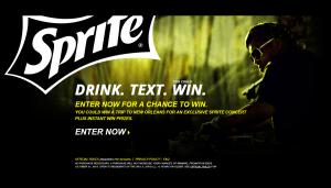 Sprite UTC National Program Instant Win Game