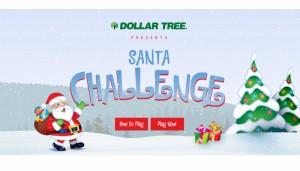 Dollar Tree's Santa Challenge Christmas Game Sweepstakes