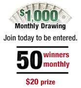 Enter to WIN the $1000 Monthly Drawing