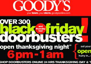 Goody's Black Friday Deals