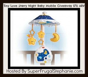 Tiny Love Starry Night Mobile Giveaway
