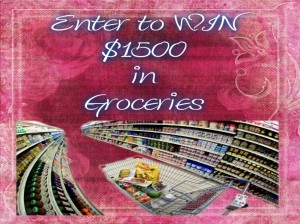 Enter to win $1500 in Groceries