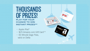 Gogo Holiday Prize Plane Sweepstakes and Instant Win Game
