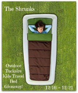The Shrunks Outdoor Tuckaire Kids Travel Bed Giveaway