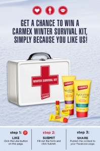 Carmex Winter Survival Kit Sweepstakes