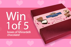 Win 1 of 5 Boxes of Ghirardelli Truffles! 5 WINNERS!