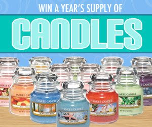 Enter to WIN a Year's Supply of Yankee Candles