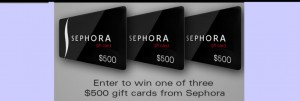 Enter to WIN a $500 Sephora Gift Card