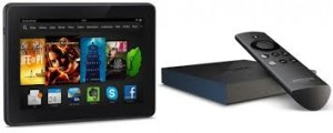 Amazon Fire TV and Kindle Fire HDX 7 inch 16GB Bundle Sweepstakes