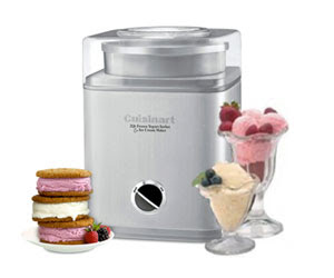 Cuisinart Pure Indulgence 2-Quart Automatic Frozen Yogurt, Sorbet, and Ice Cream Maker Sweepstakes