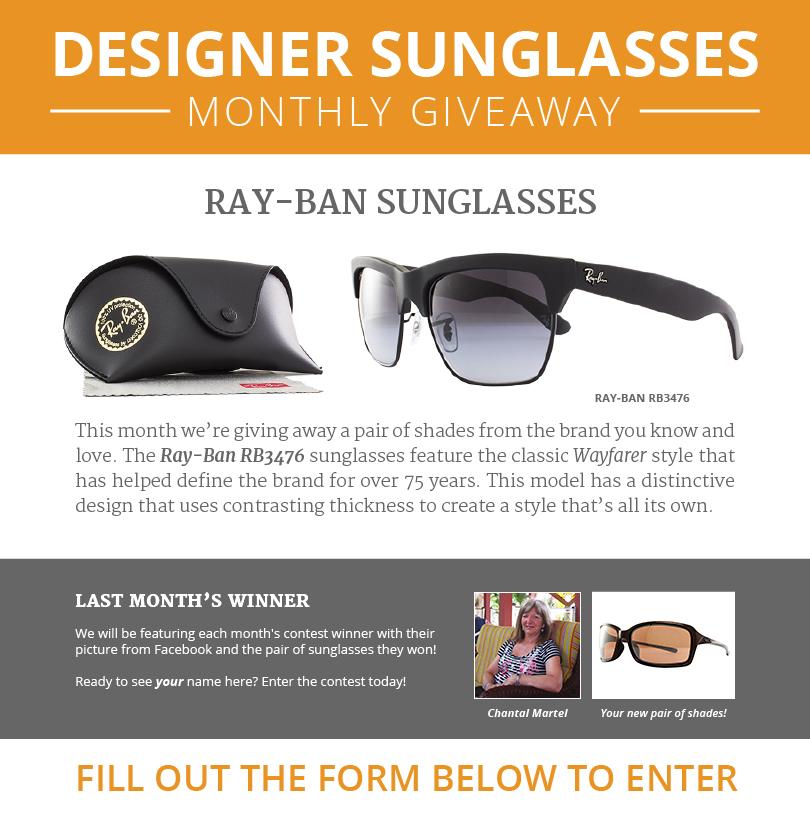 WORLD of EYES - Designer Sunglasses Monthly Sweepstakes